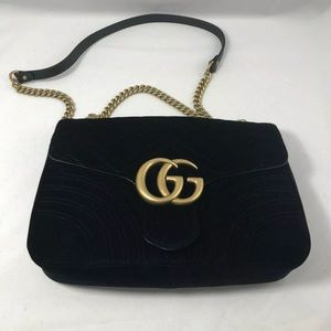 Small GG Marmont chain shoulder bag